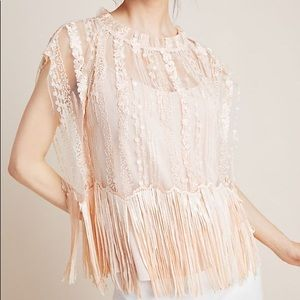 Anthropologie Eva Franco Cici Beaded Fringe Top